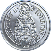 Souvenir medallion. Convent of St. John in Muestair, Switzerland – reverse