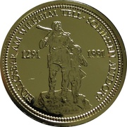 1 oz platinum (Wilhelm Tell) – obverse