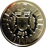 1 oz Platinum (Wilhelm Tell) – reverse