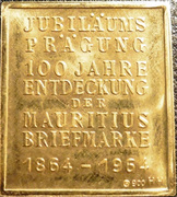 """Token - 2 Pence Mauritius """"Post Office"""" stamp – reverse"""