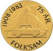 Medal - Folksam – obverse