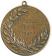 Medal - Restauranternas Idrottsklubb – reverse