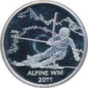 10 Euro (FIS-Alpine Ski WM) – reverse