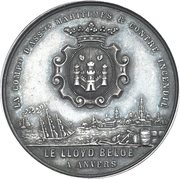 Medal - Maritime and fire insurance Le Lloyd Belge (Antwerp) – obverse