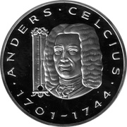 20 ECU (Andres Celcius) – obverse