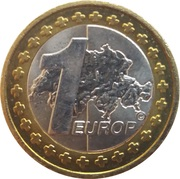 1 Europ (Switzerland Euro Fantasy Token) – reverse