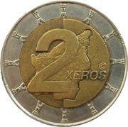 2 Xeros (San Marino Euro Fantasy Token) – reverse