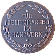 Medal - Chamber of Trade Braunschweig – reverse