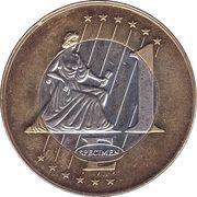 1 Euro (Italy Euro Fantasy Token) – reverse