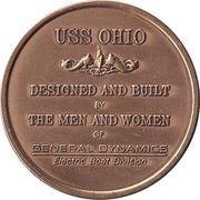 Medal - USS Ohio – reverse