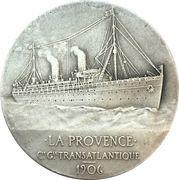 """Medal - Compagnie Generale Transatlantique """"La Provence"""" – obverse"""