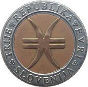 3 Euro (150th Anniversary of united Slovenia) – obverse
