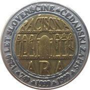 3 Euro (1250th Anniversary of Slovenian language) – reverse