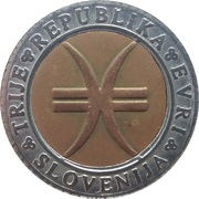 3 Euro (1250th Anniversary of Slovenian language) – obverse