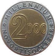 3 Euro (Millennium) – reverse