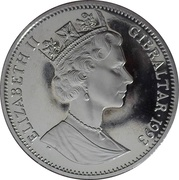 2.8 ECUs - Elizabeth II (Euro Tunnel) – obverse