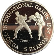 5 Pa'anga (International Games - Judo) – reverse
