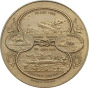 Medal - Naval victories of HMS Arethusa and HMS Lion – obverse