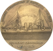 Medal - 100th anniversary of admiral Leotte do Rego – reverse