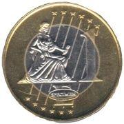 1 Euro (Faroe Islands Euro Fantasy Token) – reverse