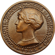 Medal - Charlotte (Liberation of Luxembourg) – obverse