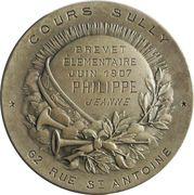 Medal - Brevet élémentaire – reverse