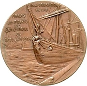 Medal - Opening of the port of Concordia – obverse