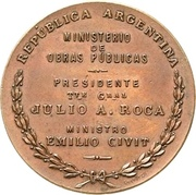Medal - Opening of the port of Concordia – reverse