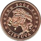 1 Cent (Lithuania Euro Fantasy Token) – obverse
