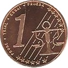1 Cent (Lithuania Euro Fantasy Token) – reverse