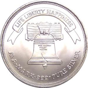 1 Oz Silver A Mark Liberty Silver Exonumia