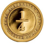¼ oz Gold (Port Phillip) – reverse