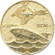 """Medal - The first Soviet supertanker """"Crimea"""" – obverse"""
