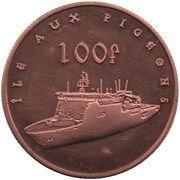 100 Francs (Île aux Pigeons) – reverse