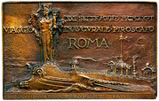Plaquette - Maiden voyage of the SS Roma -  obverse