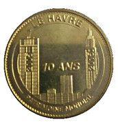 Monnaie de Paris Tourist Token - Le Havre (10 ans patrimoine mondial) – obverse