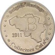 Belgian Heritage Collectors Coin - Gravensteen Gent – reverse
