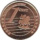 1 Cent (Russia Euro Fantasy Token) – reverse