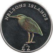 2 Pounds - Elizabeth II (Nelsons islands) – reverse