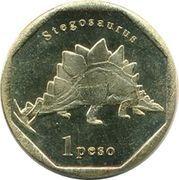 1 Peso (Stegosaurus) – reverse