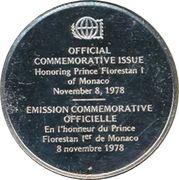 Medallion - Postmasters (Prince Florestan I of Monaco) – reverse