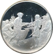 Medallion - Postmasters (200th Anniversary of Cook's arrival in Western Canada) – obverse