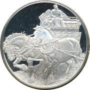 Medallion - Postmasters (Centenary of the Shire Horse Society) – obverse