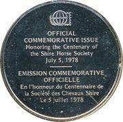 Medallion - Postmasters (Centenary of the Shire Horse Society) – reverse