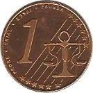 1 Euro Cent (Estonia Euro Fantasy Token) – reverse