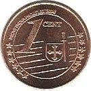 1 Cent (Armenia Euro Fantasy Token) – reverse
