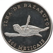200 Meticais (Bazaruto island) – reverse