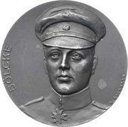 Medal - Death of flying ace Oswald Bölcke – obverse