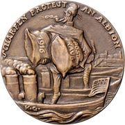 Medal - Postal robbery – reverse