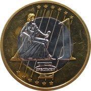 1 Euro (Monaco Euro Fantasy Token) – reverse